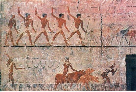 Он получил письменность - самые древние тексты датируются 4-3 тысячелетия до нашей эры